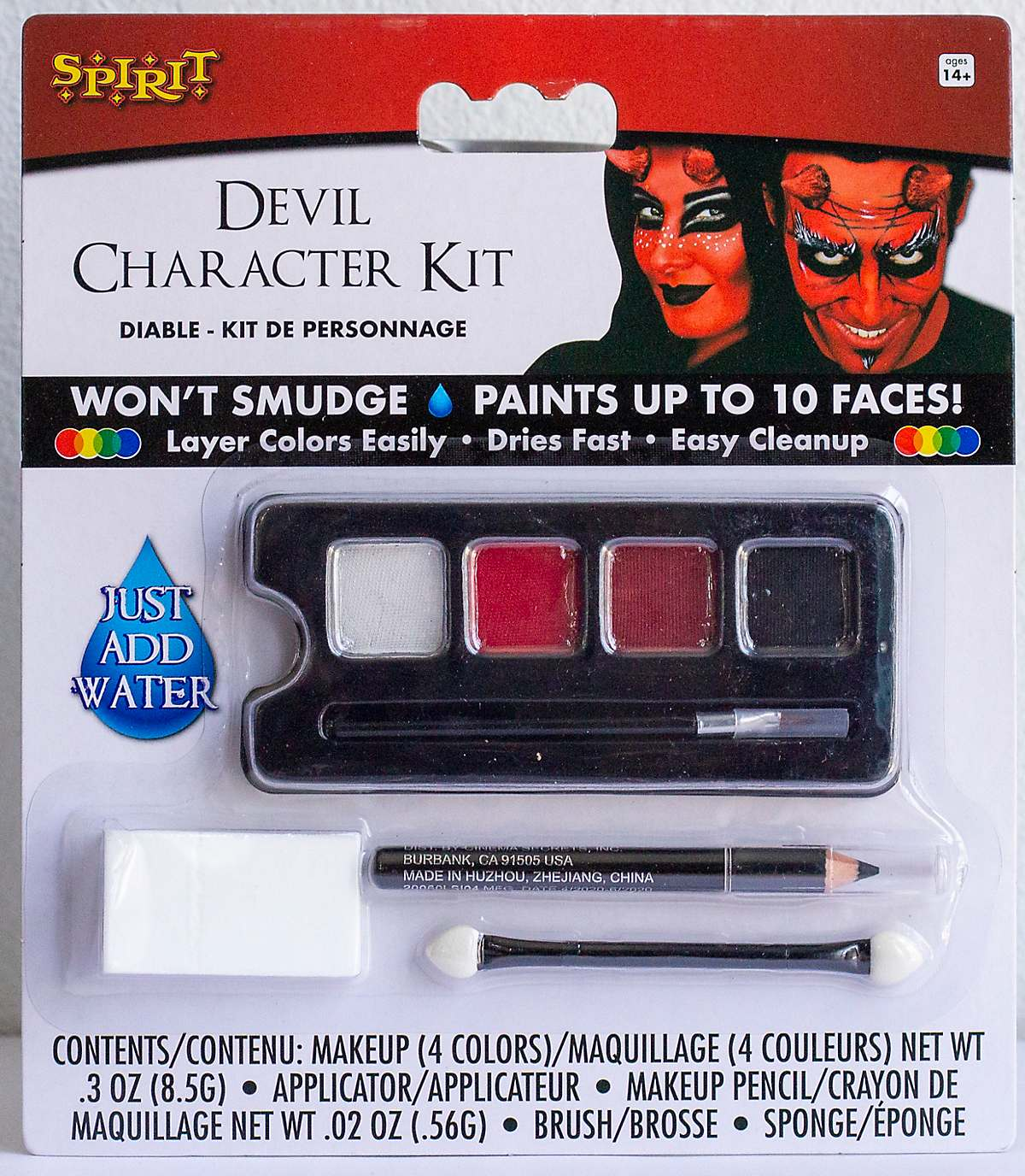 Devil makeup character kit