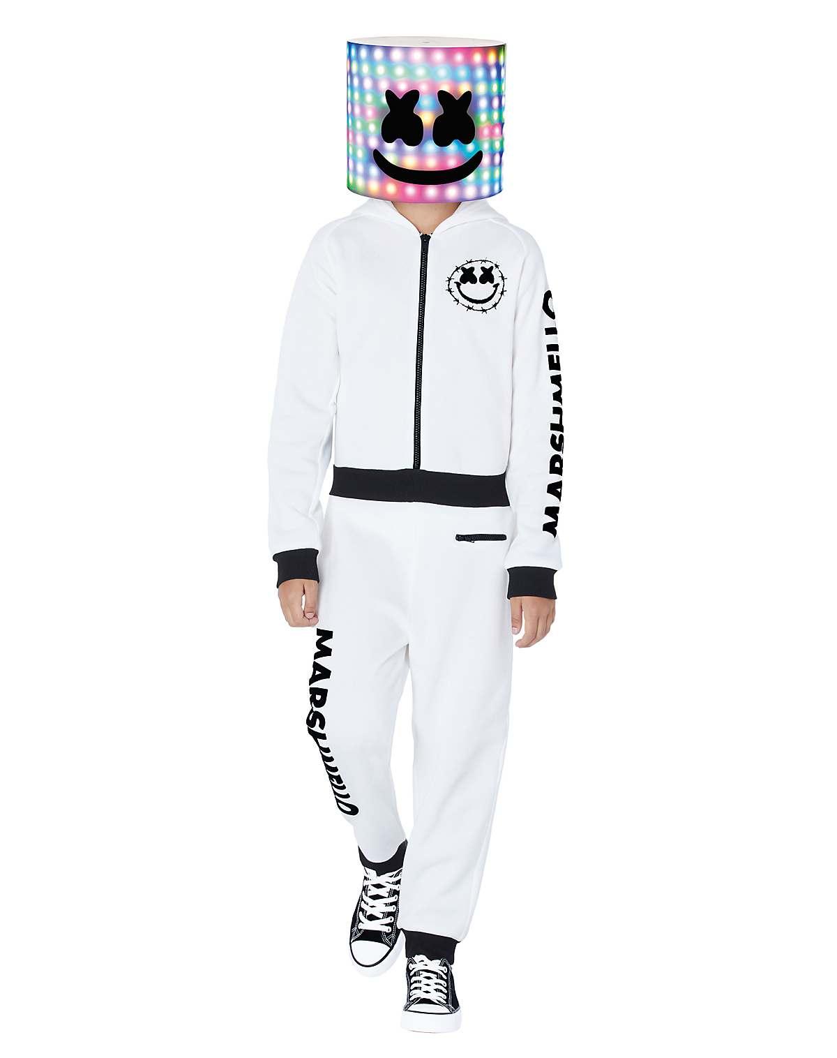 kids Marshmello jumpsuit costume