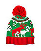 Ugly Sweater Reindeer Games Pom Beanie Hat