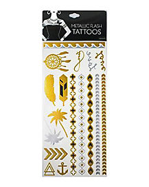 Boho Metallic Tattoos