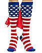 Caped American Flag Knee High Socks