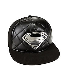 Metal Badge Superman Snapback Hat