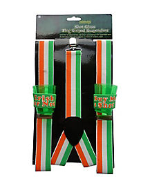 Irish Flag Shot Glass Suspenders