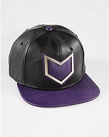 Faux Leather Hawkeye Snapback Hat