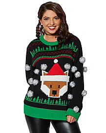 3D Pom Pom Christmas Sweater