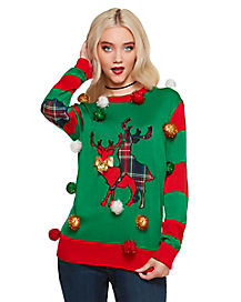 Pom Humping Reindeer Ugly Christmas Sweater