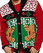 Angry Gingerbread Ugly Christmas Cardigan Sweater