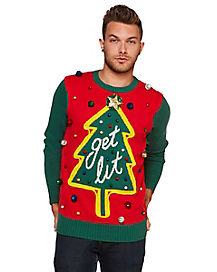 Get Lit Ugly Christmas Sweater