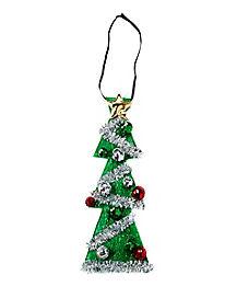 Light Up Christmas Tree Tie