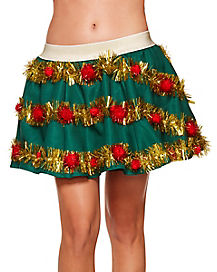 Light Up Garland Skirt