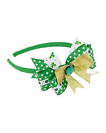 St. Patrick's Day Bow Headband