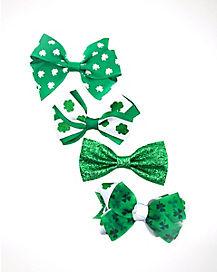 St. Patrick's Day Shamrock Bows