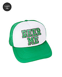 Light Up Beer Me Trucker Hat