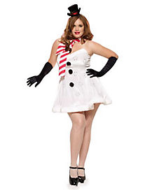 Adult Miss Winter Wonderland Plus Size Costume