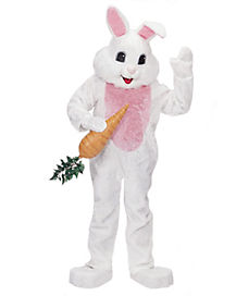 Adult White Bunny Mascot Costume - Theatrical