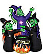 Airblown Inflatable Three Witches and Cauldron