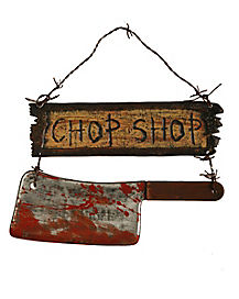 Chop Shop Sign - Decorations