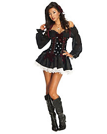 Playboy Skull Pirate Adult Womens Costume