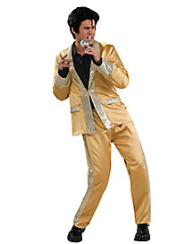 Elvis Gold Satin Deluxe Adult Costume