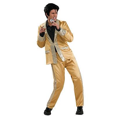 Elvis Gold Satin Deluxe Adult Costume $54.99 AT vintagedancer.com
