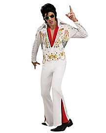 Elvis White Jumpsuit Deluxe Adult Costume