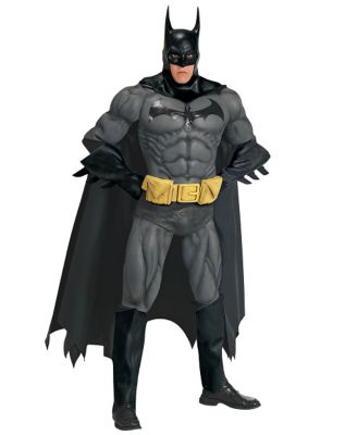 a man modeling the collectors edition batman suit
