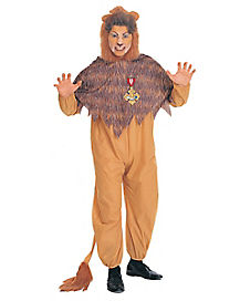 Adult Cowardly Lion One Piece Costume - Wizard of Oz