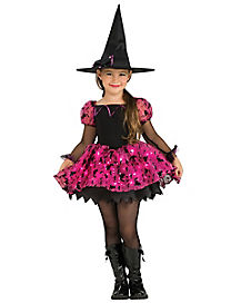 Kids Pink Moonlight Magic Twinkle Witch Costume