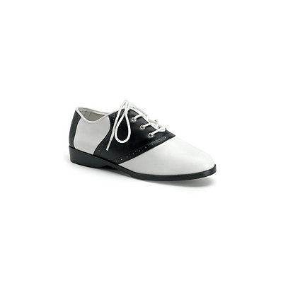 Womens Black and White Saddle Shoe $29.99 AT vintagedancer.com