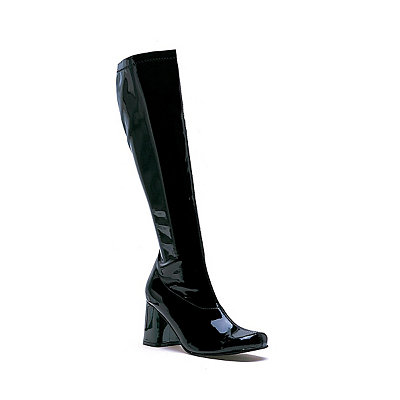 Vintage Inspired Halloween Costumes Black Go Go Boots $34.99 AT vintagedancer.com