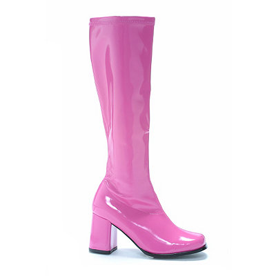 Vintage Inspired Halloween Costumes Hot Pink Go Go Boots $34.99 AT vintagedancer.com