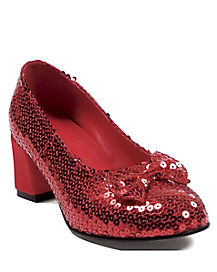 Womens Red Sequin Shoe