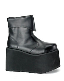 Mens Monster Black Shoes