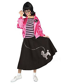 Adult Black Poodle Skirt Costume