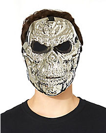 Silver Metallic Skull Mask