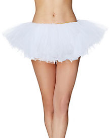 White Organza Womens Tutu
