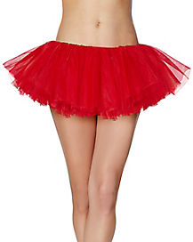 Red Organza Womens Tutu