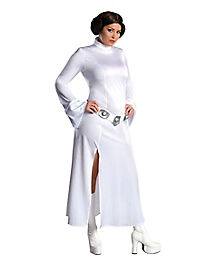 Adult White Princess Leia Dress Plus Size Costume - Star Wars