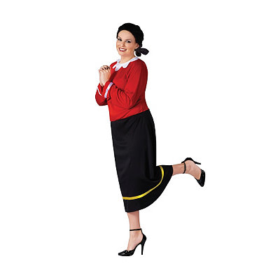 Vintage Inspired Halloween Costumes Adult Olive Oyl Plus Size Costume - Popeye $44.99 AT vintagedancer.com