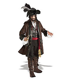 Caribbean Pirate Adult Mens Theatrical Costume