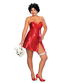Adult Betty Boop Plus Size Costume Deluxe - Betty Boop