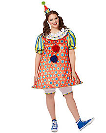 Adult Giggle the Clown Plus Size Costume