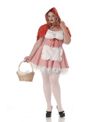 Miss Red Riding Hood Adult Womens Plus Size Costume