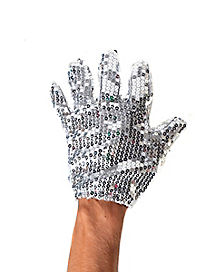 Silver Sequin Gloves