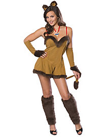 Adult Cowardly Lioness Dress Costume - Wizard of Oz
