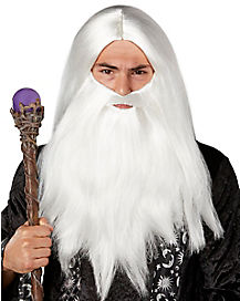 Merlin Wizard Adult Beard and Wig
