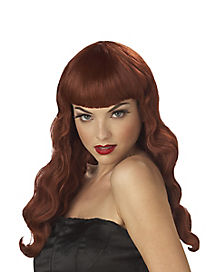 Pin-Up Red Wig