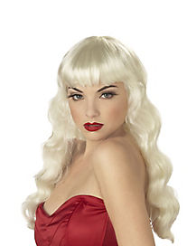 Pin Up Blonde Adult Wig