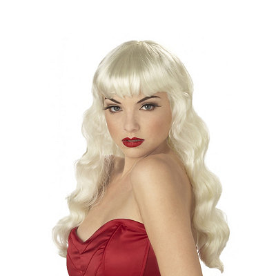 1940s Hair Snoods- Buy, Knit, Crochet or Sew a Snood Pin Up Blonde Adult Wig $19.99 AT vintagedancer.com