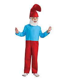 Kids Papa Smurf One Piece Costume - The Smurfs